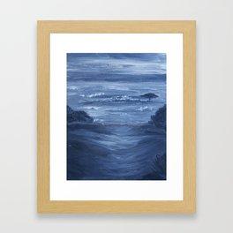 Monochromatic Seascape 3 Framed Art Print