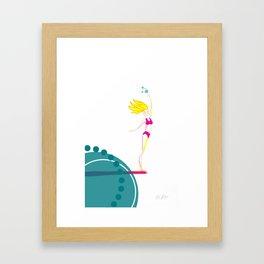 Thrivistas Surfer Girl Noseride Framed Art Print
