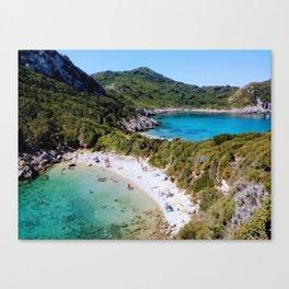 beach in greece Canvas Print