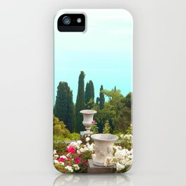 sea ​​view from the park iPhone Case