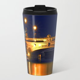 Nocturnal Lights on the river Spree in Berlin Travel Mug