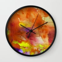 rose gold Wall Clocks featuring Rose Gold  by ariesmoon