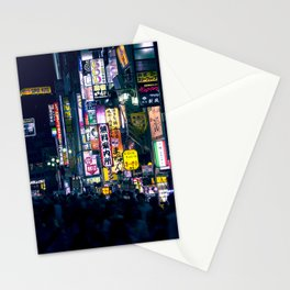 Neon Signs in Tokyo, Japan / Night City Series Stationery Cards