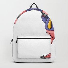Cartoon Pig Holding Gun Mafia Clothes Backpack