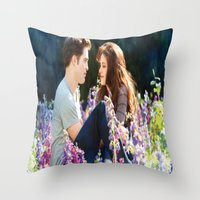 saga Throw Pillows featuring Twilight saga by Duitk