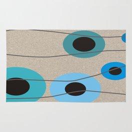Circles Upon Circles in Blue Rug