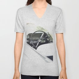 Summer time and Cadillacs Unisex V-Neck
