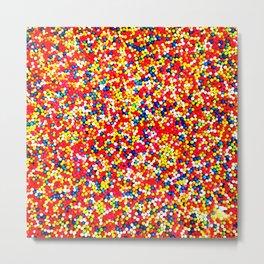 Sugar Candy Rainbow Balls Metal Print