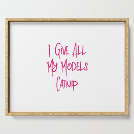 I Give All My Models Catnip Funny Pet Coordinator Serving Tray