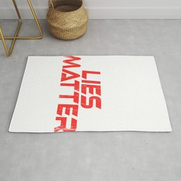 """A Nice Simple Lies Tee For Liars Saying """"White Lies Matter"""" T-shirt Design Truthfulness Dishonesty Rug"""