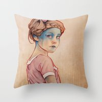 oil Throw Pillows featuring Within White by Michael Shapcott