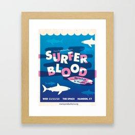 Surfer Blood Poster Framed Art Print