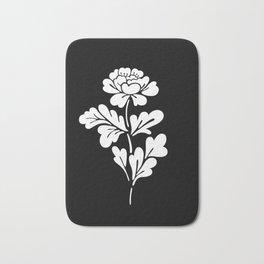 Black Rose Inverted Bath Mat
