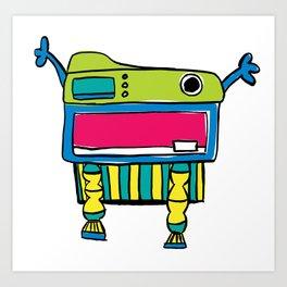 Happy Mr. Turtle Art Print