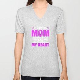 Gymnastics Moms Full Heart Mothers Day T-Shirt Unisex V-Neck
