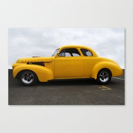 SUPER CHARGED YELLOW HOT ROD Canvas Print