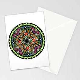 MANDALA MEDITATION PATTERN ZEN FLORAL Stationery Cards