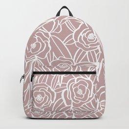 Pink Blooms Print Backpack