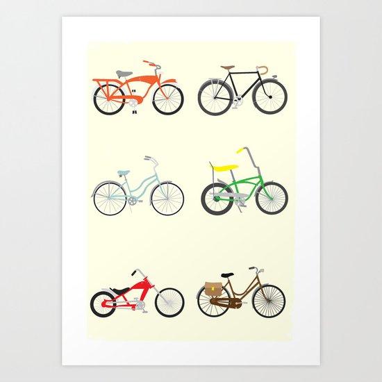 Bikes Art Print