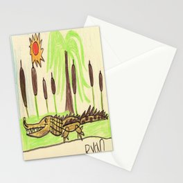 Crocodile Swamp Stationery Cards