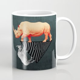 The orange rhinoceros who wanted to become a zebra Coffee Mug