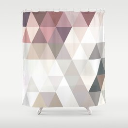 PINK AND GREY Shower Curtain
