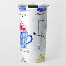 Tea Time Menu Travel Mug