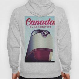 Canada 1950s travel locomotive poster Hoody