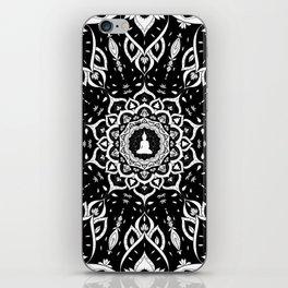 Black and White Mandala Pattern Decor iPhone Skin