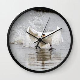 Swan take off Wall Clock
