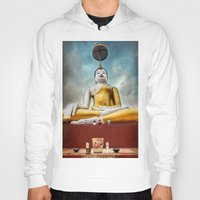 thailand Hoodies featuring Buddha Thailand by Adrian Evans