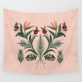 The Pink Tikki Room Wall Tapestry