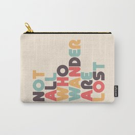 Retro Not All Who Wander Are Lost Typography Carry-All Pouch