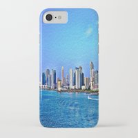 new york skyline iPhone & iPod Cases featuring New York  Skyline   by Judy Palkimas