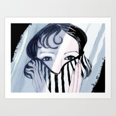Behind the Veil Art Print