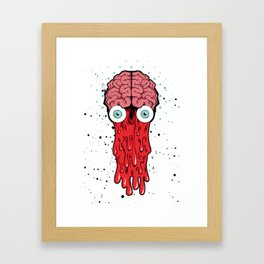 DRIPPING--BRAIN Framed Art Print