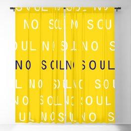 NO SOUL Blackout Curtain