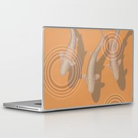 trout Laptop & iPad Skins featuring Rainbow Trout by Great Gray Art