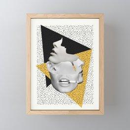 collage art / Faces Framed Mini Art Print