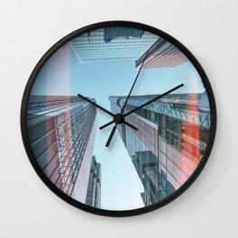 Hongkong skyscraper 3 Wall Clock