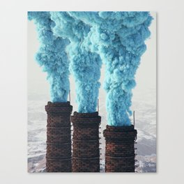 Blue Pollution Canvas Print
