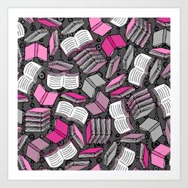 So Many Books... Art Print