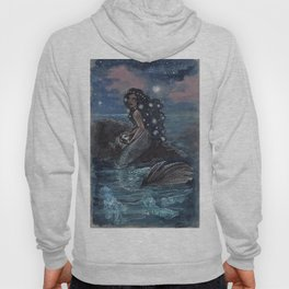 Evening Glow Mermaid and Firefly Squid Hoody