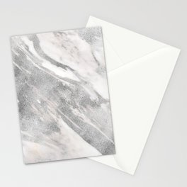 Castello silver marble Stationery Cards
