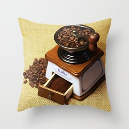 coffee grinder 3 Throw Pillow