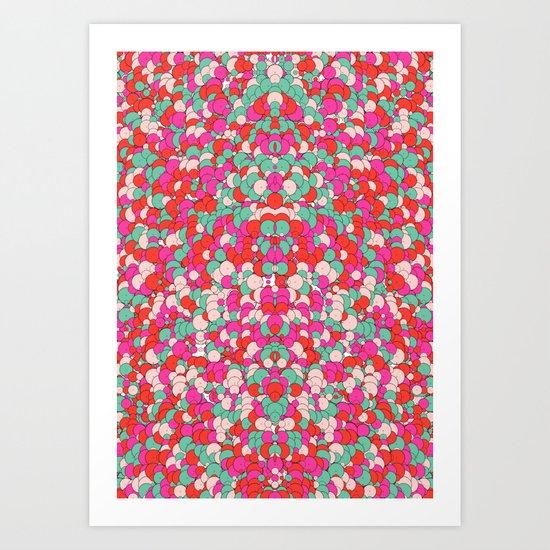 Chaotic Circles Pattern Art Print