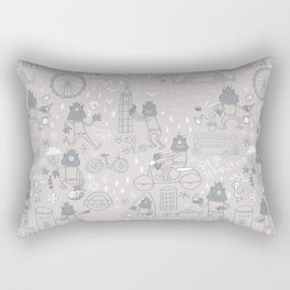 Alien visit to London Rectangular Pillow