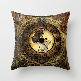 Steampunk design Throw Pillow