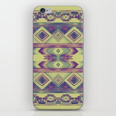 Southwest Pattern - Lime, Purple & Blue iPhone & iPod Skin