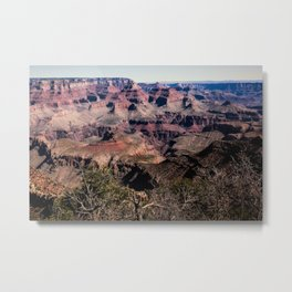 Grand Canyon - Colorful Layers Etched by Time in Desert Southwest Metal Print